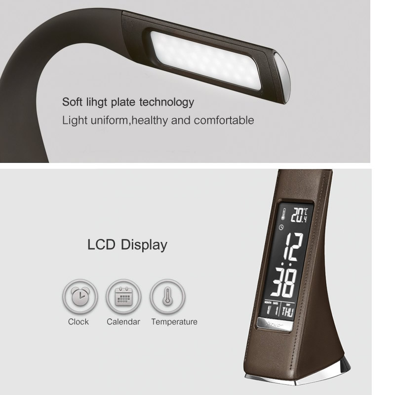 Lâmpadas de Mesa candeeiro de mesa com display Cct of Office Led Desk Lamp : 5000-6000k White Light Effect For The Lamp