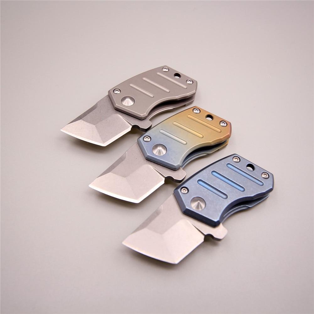 7,8 см 43 г очень маленький легкий нож для девочек обороны Карманный edc инструменты ключ складные ножи s35vn покрасить лезвие titanium cnc нож