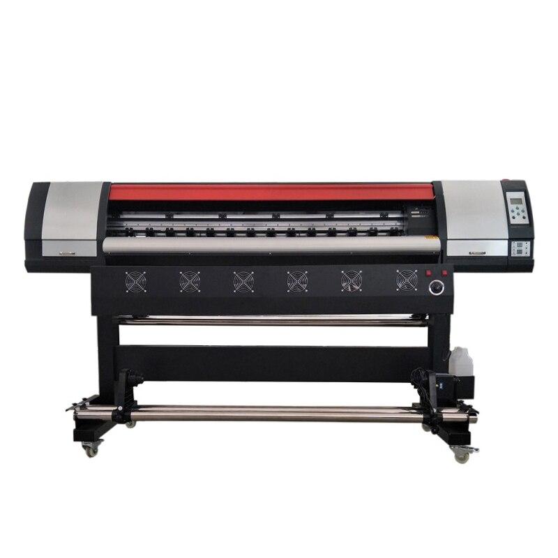 Wysokiej prędkości Eco-maszyna drukarska z rozpuszczalnikiem Xp600 głowicy drukującej odp łatwy w obsłudze 1.6M Eco drukarka atramentowa z tuszem rozpuszczalnikowym druk banerów reklamowych