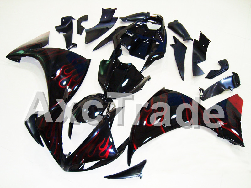 Motorcycle Fairings For Yamaha YZF R1 1000 YZF-R1 YZF-R1000 2009 2010 2011 ABS Plastic Injection Fairing Bodywork Kit Red Flame high quality abs fairing kit for yamaha r1 2002 2003 red flames in black fairings set injection molding yzf r1 02 03 yz32