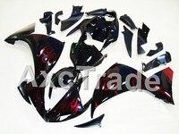 Xe máy Bộ Phận Tạo Cho Yamaha YZF R1 1000 YZF-R1 YZF-R1000 2009 2010 2011 ABS Nhựa Tiêm Fairing Thân Xe Kit Ngọn Lửa Màu Đ