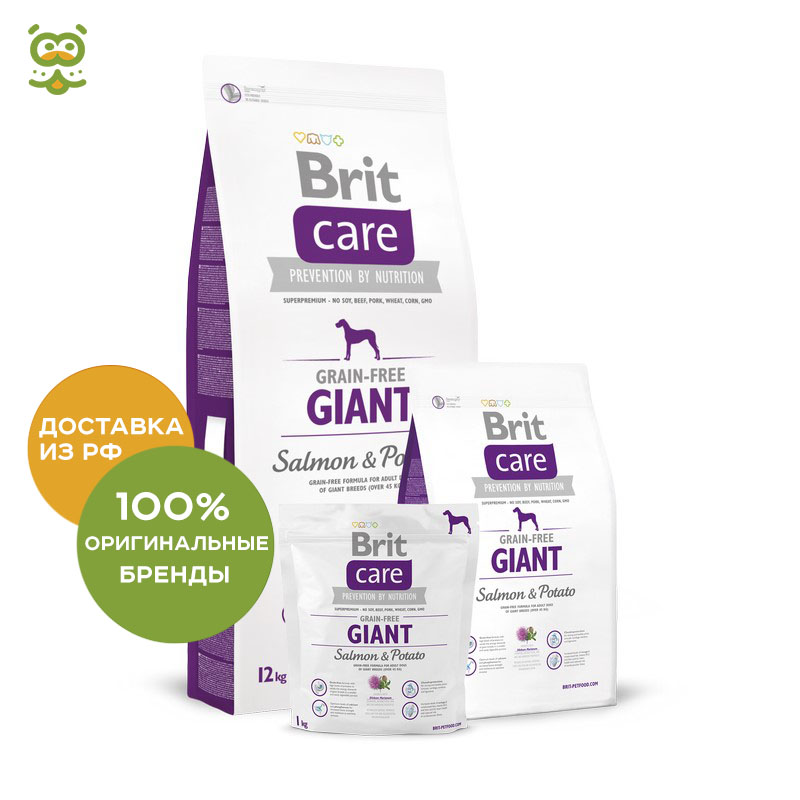 Dog food Brit Care Adult Giant Breed Salmon & Potato for adult dogs of giant breeds, salmon and potatoes, 12 kg. стоимость