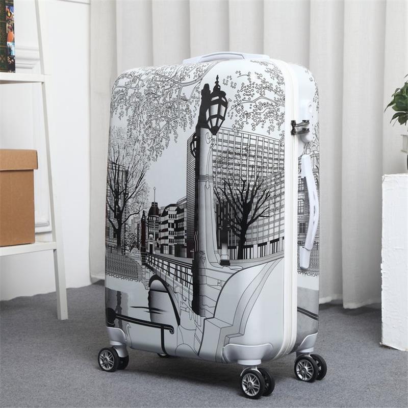 Bavul Valise Enfant Mala Resväska Med Hjul Koffer Färgrik Maleta - Väskor för bagage och resor - Foto 4