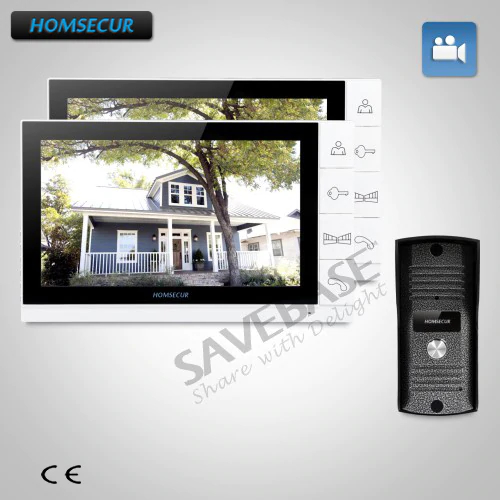 HOMSECUR New 9 Wired Video Phone System Recording 1v2 For Home Security And IntercomHOMSECUR New 9 Wired Video Phone System Recording 1v2 For Home Security And Intercom