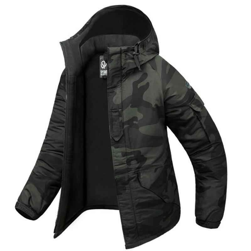 New Edition SouthPlay Men's Waterproof 10,000mm Dark Gary Military Camo Warming Jacket