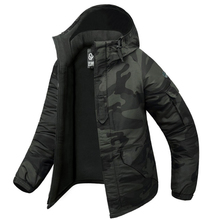 SouthPlay Men's Waterproof 10,000mm Dark Gary Military Camo Warming Jacket