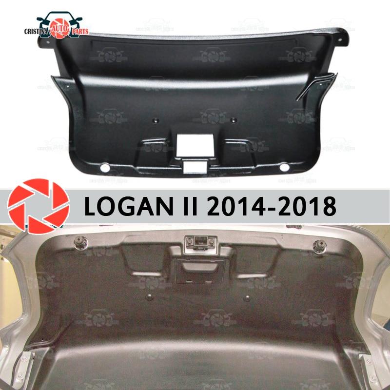 Garniture sur le couvercle du coffre pour Renault Logan 2014-2018 accessoires housse de protection garde porte arrière décor protection voiture style