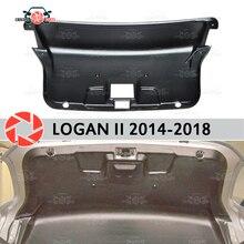 Отделка на крышка багажника для Renault Logan 2014-2018 аксессуары защитная крышка охранник задняя дверь Декор защиты Тюнинг автомобилей