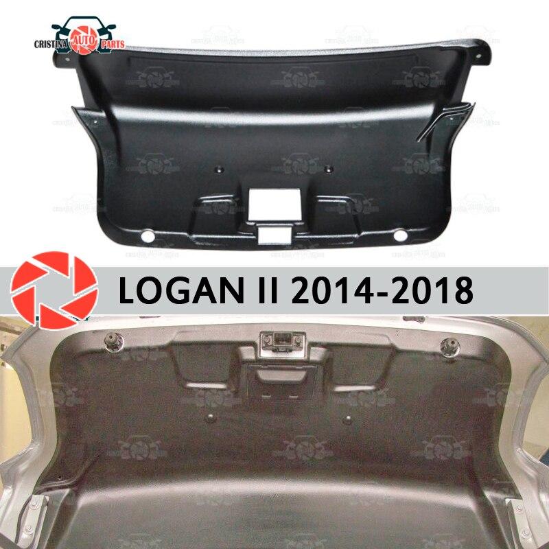 Trim sul cofano del bagagliaio per Renault Logan 2014-2018 accessori di protezione della copertura della protezione posteriore porta decorazione di protezione auto styling
