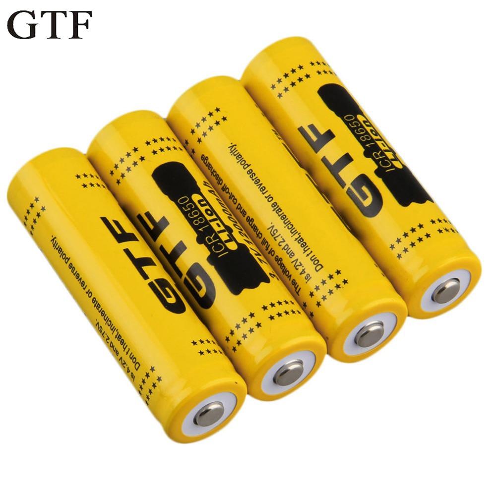 1pcs 3.7V 18650 9900mah Li-ion Rechargeable Battery For LED Flashlight Torch  AT