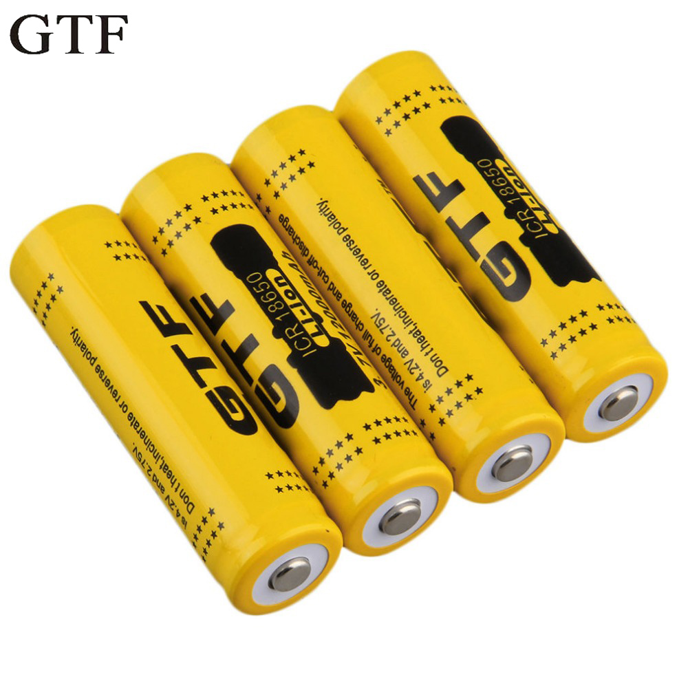 GTF 1pcs 18650 3.7V 12000mAh Rechargeable Li-ion Battery For LED Torch Flashlight Rechargeable Battery