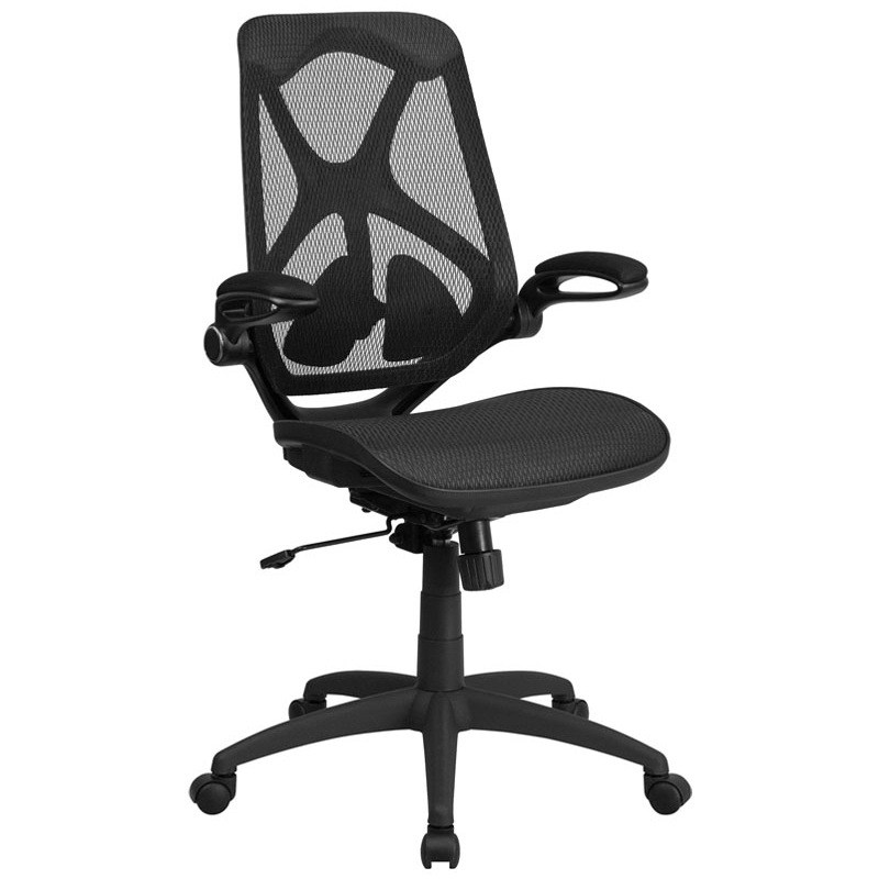 Flash Furniture High Back Black Mesh Executive Swivel Office Chair w/Mesh Seat alfani new black women s size small s mesh back high low ribbed blouse $59 259