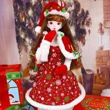 DBS 드림 페어리 1/3 bjd 60cm 공동 바디 인형 황금/갈색 머리 크리스마스 정장 모자 신발 SD 키트 장난감 아기 선물