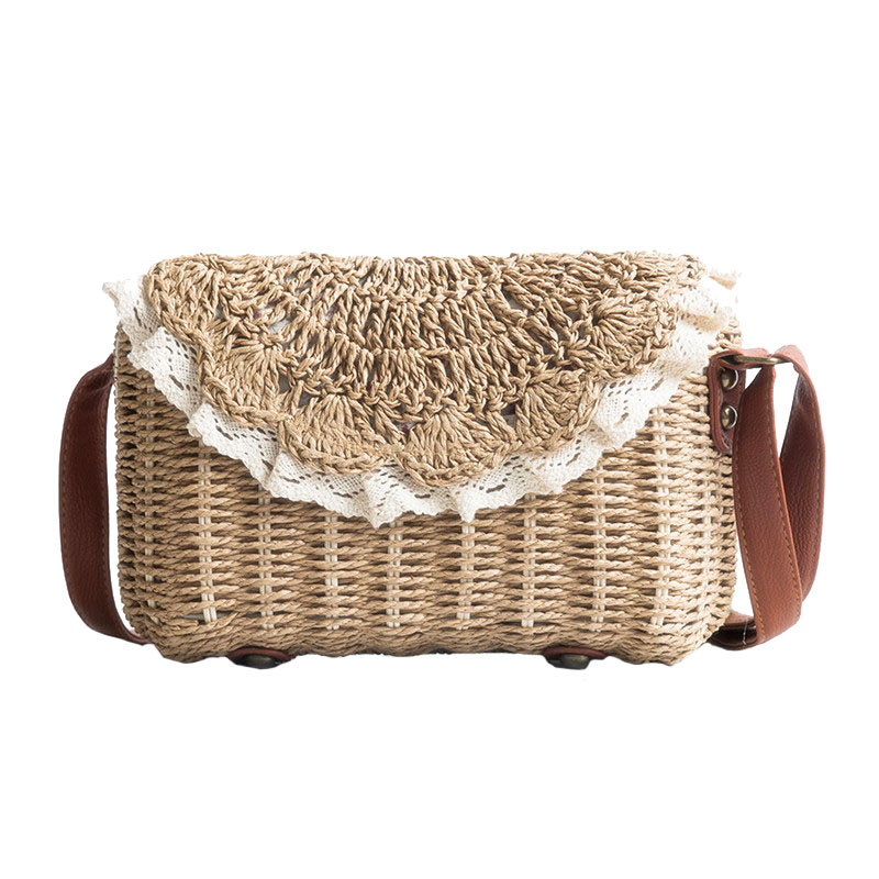 Straw-Bags Holiday-Handbag Weave Lace Casual Beach Summer Women Female SS3150 Bolsa Travel