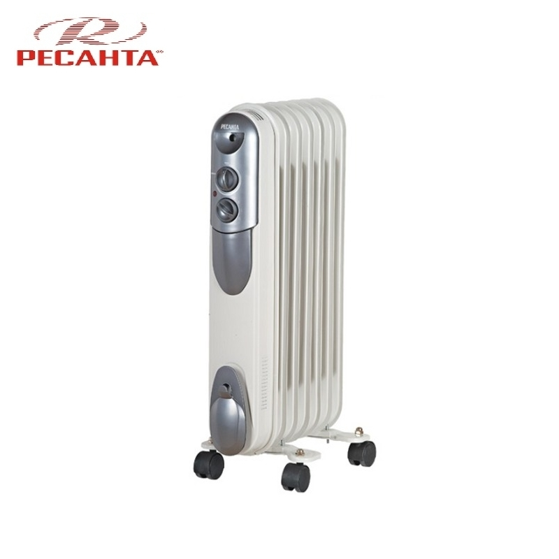 Oil radiator RESANTA OMPT-7N Air heating Oil heater Space heating Oil filled radiator Sectional radiator