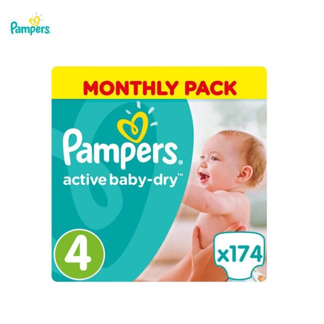 Подгузники Pampers Active Baby-Dry 8-14 кг, 4 размер, 174 шт.