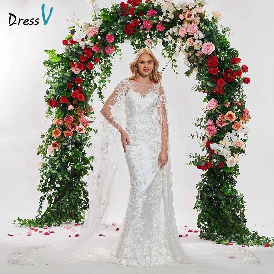 Discount Simple Elegant Open Back Long Sleeve Wedding: Aliexpress.com : Buy Dressv Ivory Elegant Mermaid Scoop