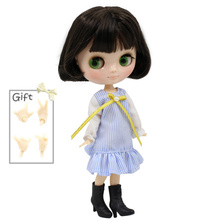 ICY Middie Blythe Doll Black Hair Jointed Body 20cm