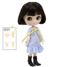 ICY Middie Blythe Doll чорний з натуральним волоссям тіло 20cm