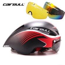 2018 Cairbull Aero велосипед с камерными шинами очки шлем для езды на велосипеде в форме шлема Магнитный всасывающий объектив дорожный велосипедный шлем