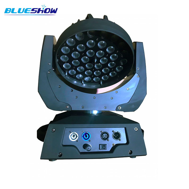 No Tax Custom By Sea, Power Corn Zoom LED Moving Head Wash Light 36x10W RGBW 4in1 Or 36x12w 5in1 Or 36x15w 6in1