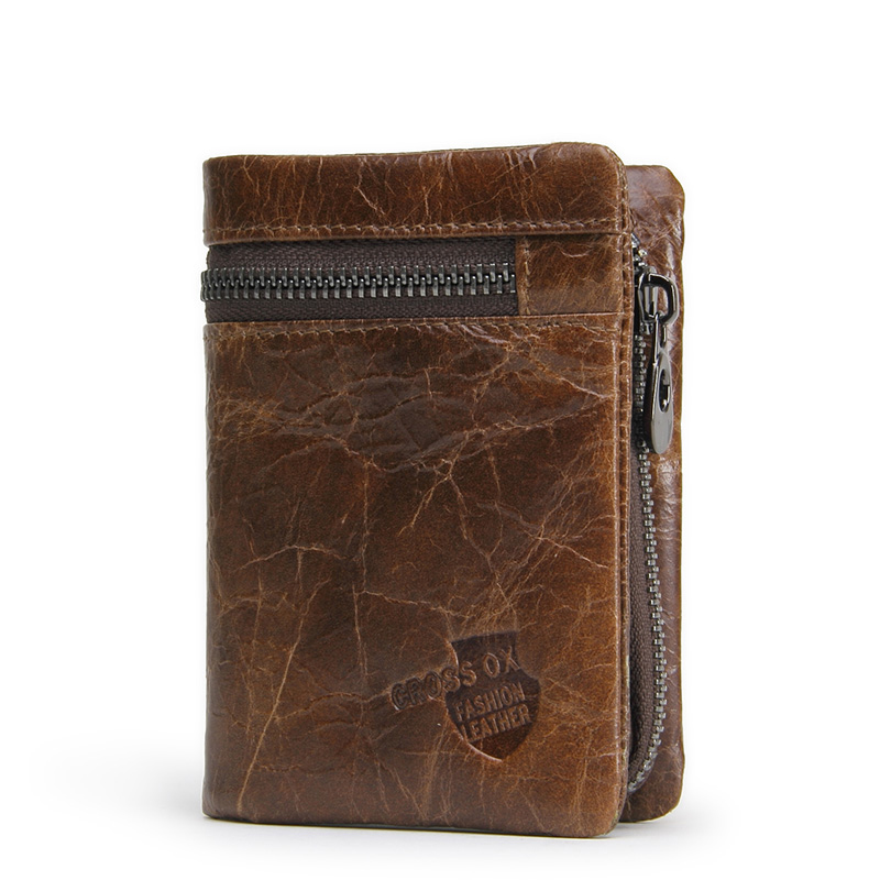 CROSS OX case with genuine leather wallet men's wallet and coin purse WL107 trendy compact men leather wallet