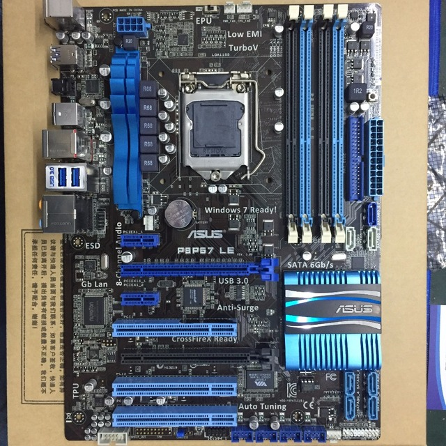 LGA1155 dla ASUS P8P67 LE oryginalne używane pulpit P67 1155 płyta główna DDR3 USB3.0 SATA3