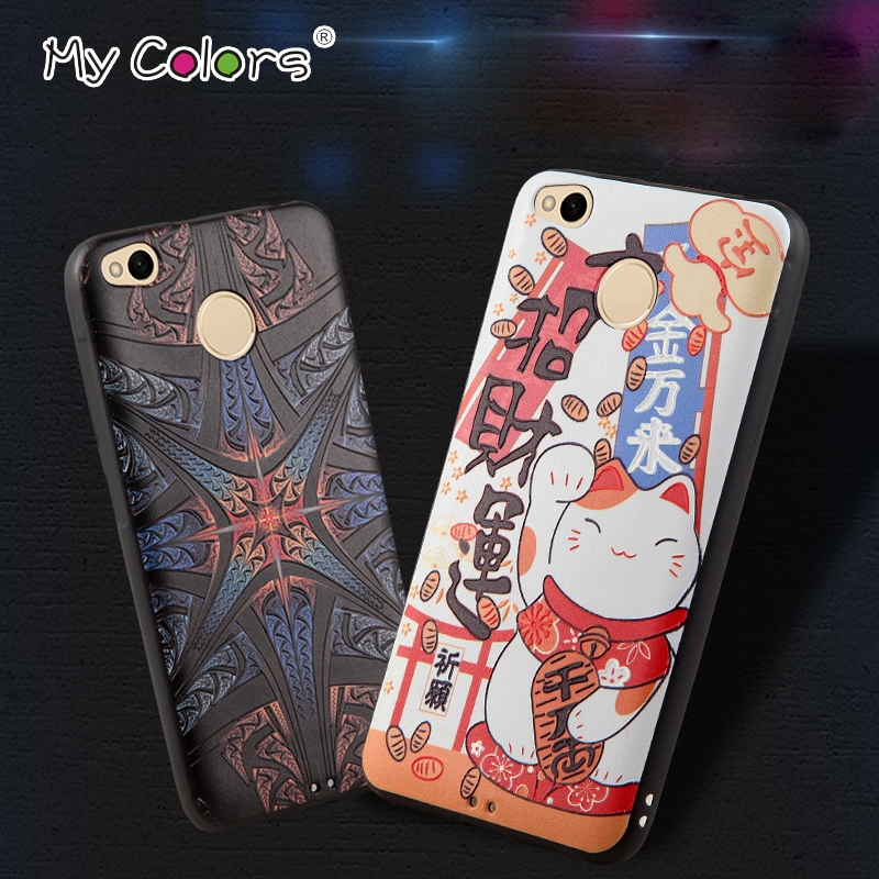 My Color 3D Stereo relief 5 0 coque Redmi 4x font b Case b font for