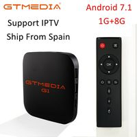 Android 7.1 TV Box GTmedia G1 1GB RAM 8GB ROM Ultra HD 1080P H.265 4K for Google Player Store Netflix Youtube Pk Mi TV Box 2 3