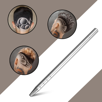 1 Pcs Hairstyle Engraved Pen 10Pcs Blades Eyebrows Shaving Salon Tool Professional Accessories Hairdresser Hair Trimmers Styling