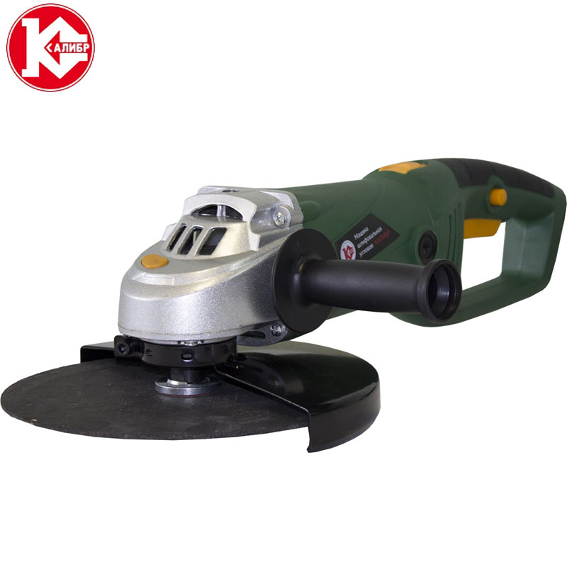 Kalibr MSHU-230/2000P PROMO Electric Angle Grinder Power Tools Polishing Machine Electric Tool for Grinding of Metal Woodworking kalibr mshu 125 1055 angle grinder grinding machine metal polisher angular power tool metal and wood cutting sanding polishing
