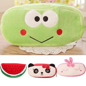 Cute Watermelon Frog Panda Rabbit Soft Pencil Pen Case Makeup Pouch Phone Bag cute rabbit silicone soft case