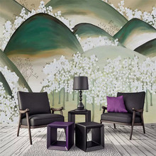 Japanese-style cherry blossom landscape wall professionally produced murals, wallpaper wholesale, custom poster photo