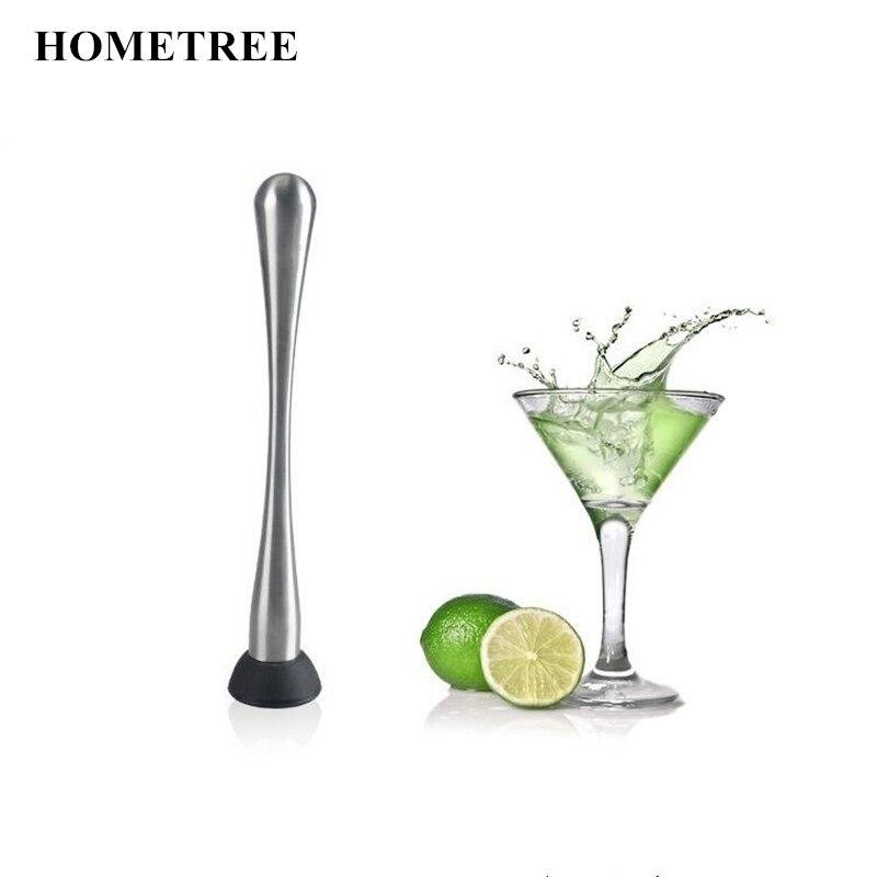 HOMETREE Коктейльные винные инструменты из нержавеющей стали, палочка с мордочкой для фруктов, палочки для Фруктового мороженого, молоток для к...
