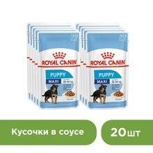 Royal Canin Maxi Puppy пауч для щенков крупных пород(соус), 20*140 г