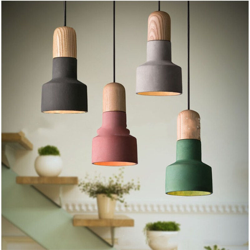 цены Creative Concise Cement Retro Industrial Style Pendant Lamp Cafe Bar Restaurant Bedroom Livingroom Decoration Lamp Free Shipping