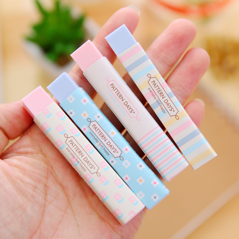 1PC New Creative Stationery Supplies Cute Cartoon Pencil Erasers For Office School Kids Prize Writing Drawing Student Gift