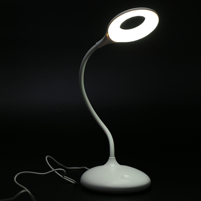 Светодиодный сенсорный на/выключения настольная лампа дети защита глаз студент исследование чтение диммер Перезаряжаемые LED Настольные лампы