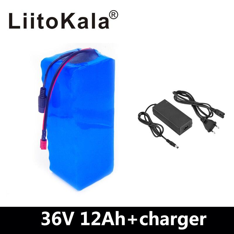 LiitoKala 36 V 12AH batterie de vélo électrique intégrée dans 20A BMS batterie au Lithium 36 volts avec 2A Charge batterie Ebike - 2