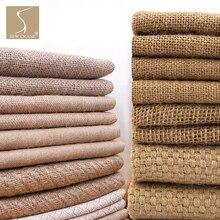 Классический льняной коричневый грубой ткани sackcloth грубой ткани обивка Джутовая Ткань натуральные Льняные ткани