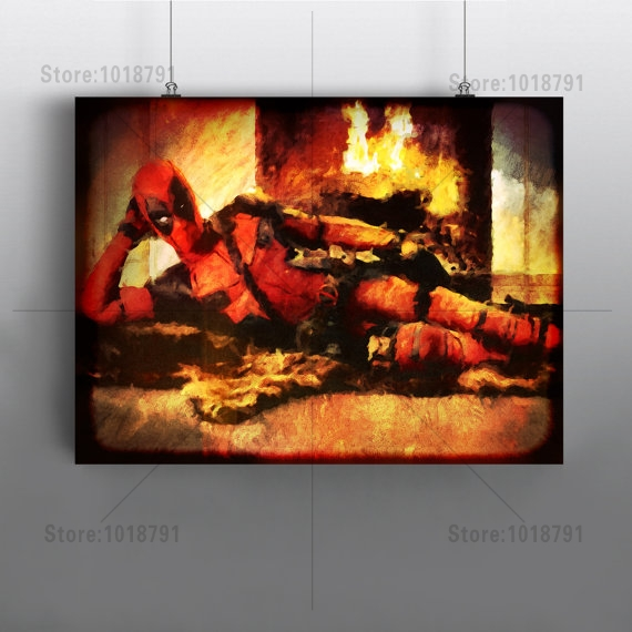 5d diamond embroidery picture Deadpool painting square mosaic cross stitch Mosaic Home Decoration Needlework