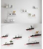 1 Set Premintehdw Black White Wall Mount Floating Shelf Shelving L Design Living Room