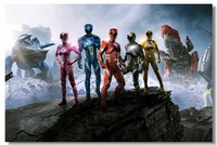 Custom Canvas Wall Murals Movie Power Rangers Poster Power Rangers Wall Stickers Samurai Wallpaper Kids Room