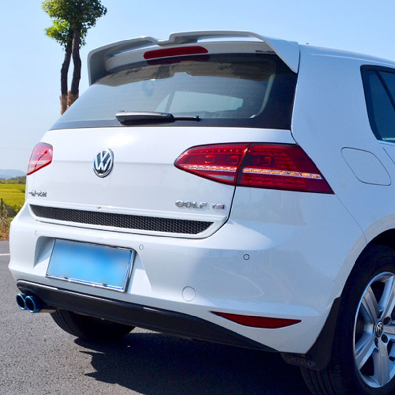 MK7 O Styling ABS Unpainted Rear Roof Trunk Wing Spoiler for VW Golf 7 VII MK7 Standard 2014 - 2017 ( can't fit GTI & R ) for vw golf gti 7 vii mk7 2014 2015 red lens led rear bumper reflector light lamp