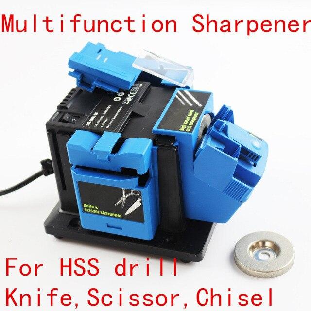 Afilador multifunción de 96 W afilador de herramientas de molienda doméstica para taladro de torsión de cuchillo HSS taladro tijera cincel amoladora eléctrica