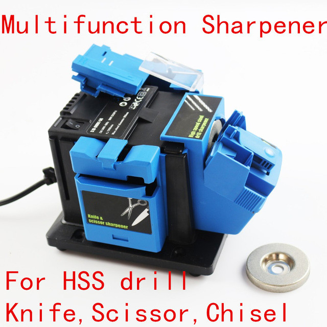 Multifunction sharpener Household Grinding Tool sharpener for knife Twist drill HSS drill scissor chisel electric grinder free shipping 800 grit grinding knife emery wheel for multifunction sharpener machine