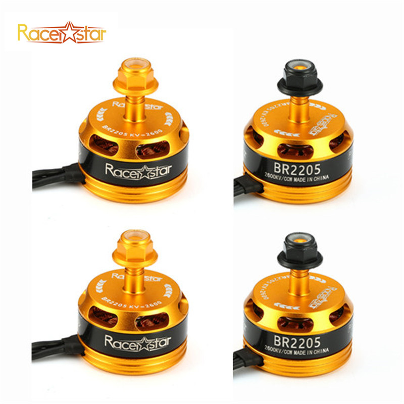Hot Sale 4 Pcs Racerstar Racing Edition 2205 <font><b>BR2205</b></font> 2600KV Yellow 2-4S Brushless Motor For 210 X220 250 280 Outdoor Toys image