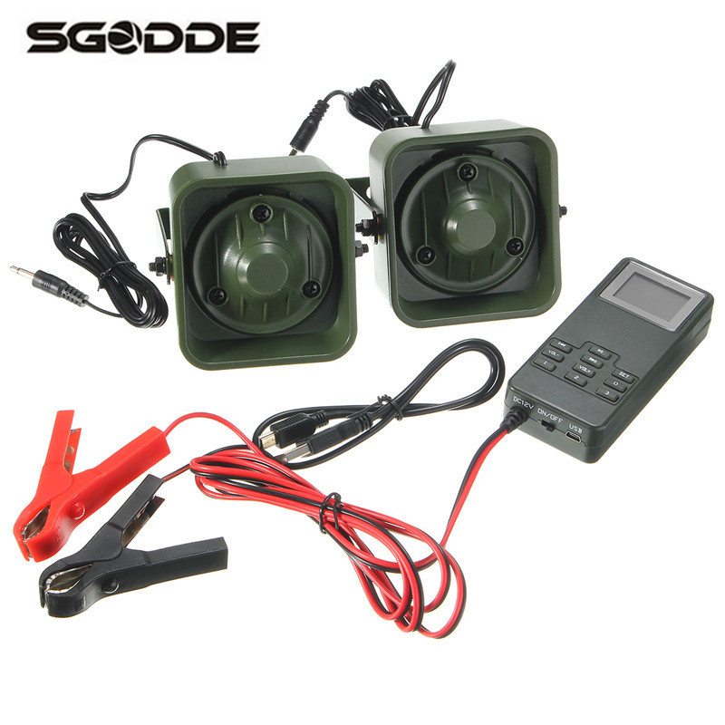 SGODDE Outdoor Hunting Decoys Bird Caller MP3 Player 50W 150dB Loud Clear Speaker Timer Tool Case Box Built in 200 Bird Voice