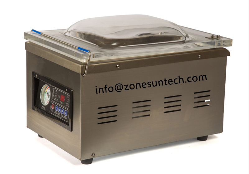 ZONESUN DZ-260 machine à emballer sous vide de style Table, machine de cachetage sous vide de scelleur de corps d'acier inoxydable