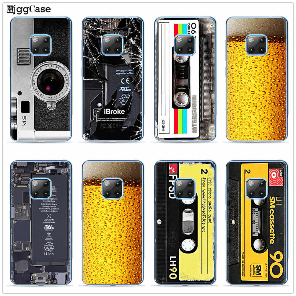 Vintage Tape Camera Gameboy Phone Case For Coque Huawei P8 P9 Lite 2017 P10 P20 P30 Lite Cover For Huawei Mate 20 10 Lite Pro